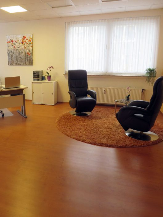 Therapieraum in der Praxis für Psychotherapie M. Sc. Psych. Constanze Ochs